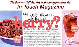 In Touch mag, Goji berry