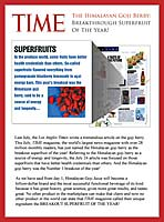 Time mag, Goji Berries